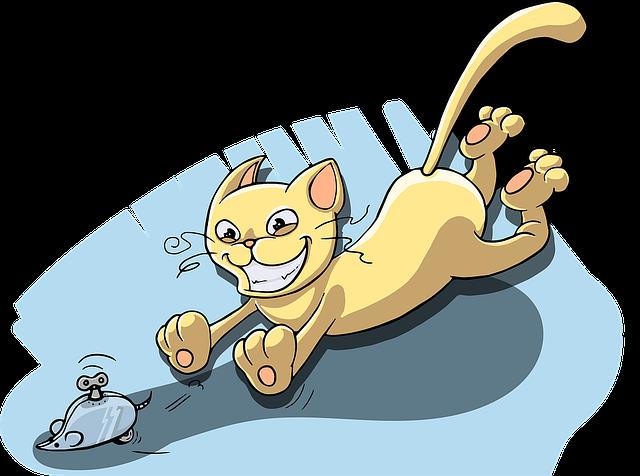 Katze Jagd Spielmaus Mechanisch