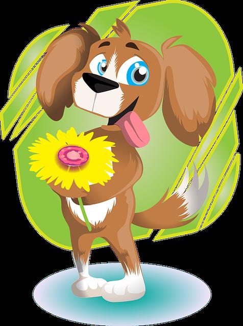 Lieber Hund Blume