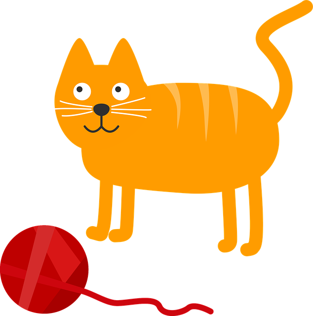 Katze und Wollknäuel